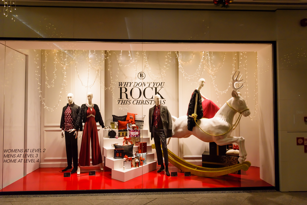 Holiday Shopping window