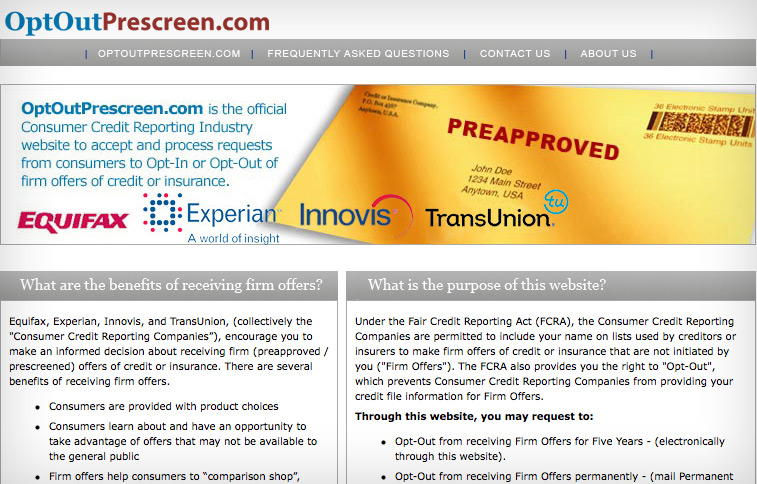 Opt Out Prescreen