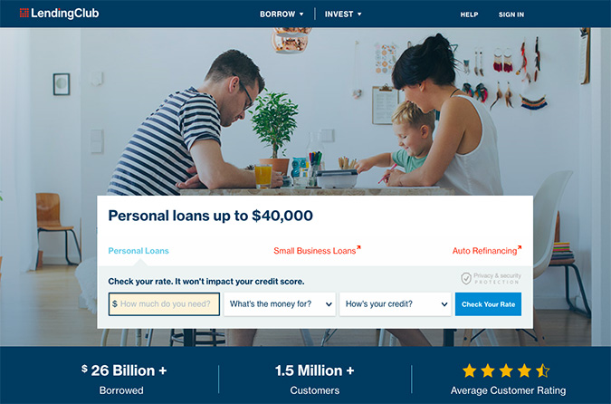 Lending Club Website