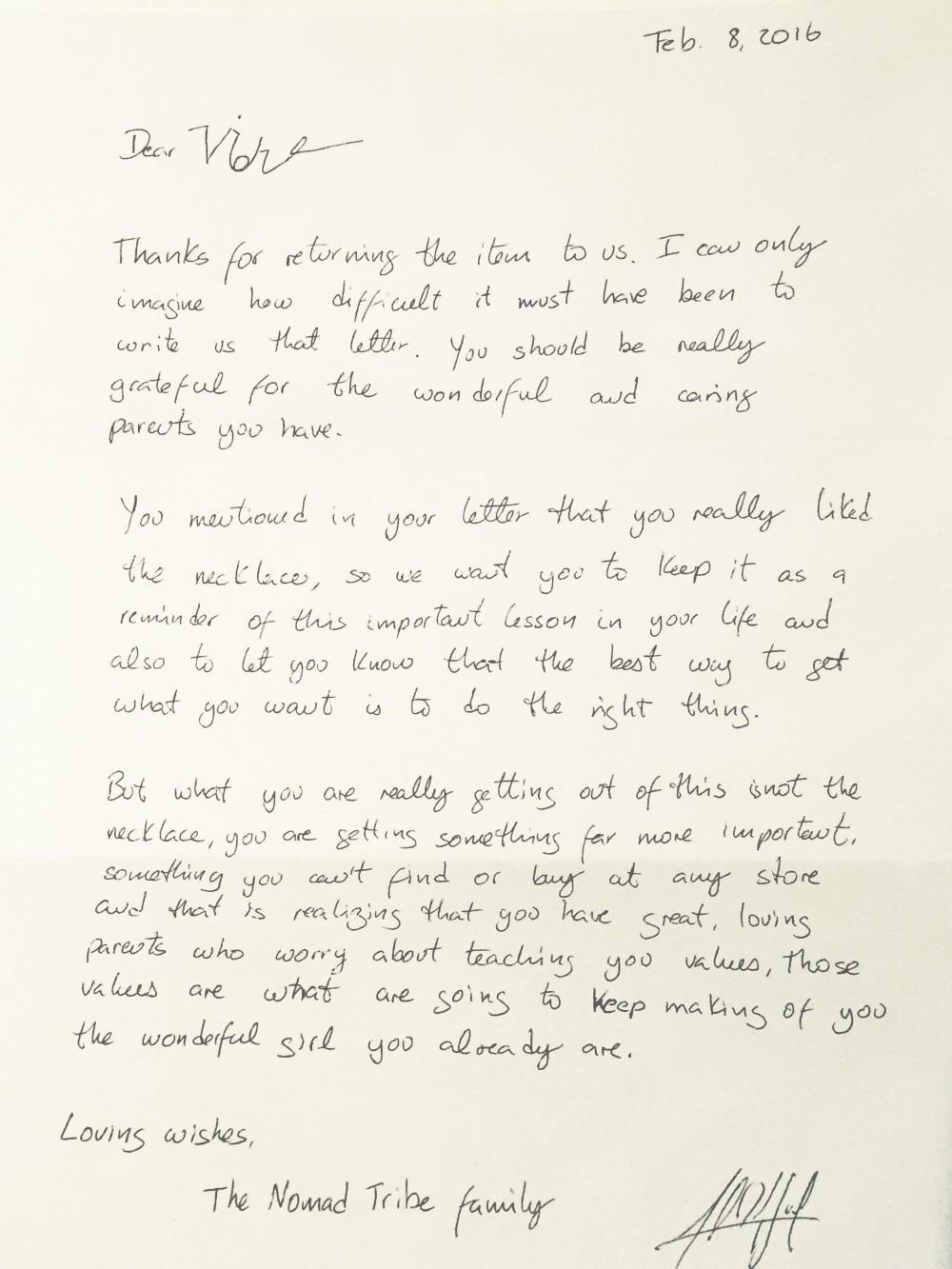 Letter to Violet