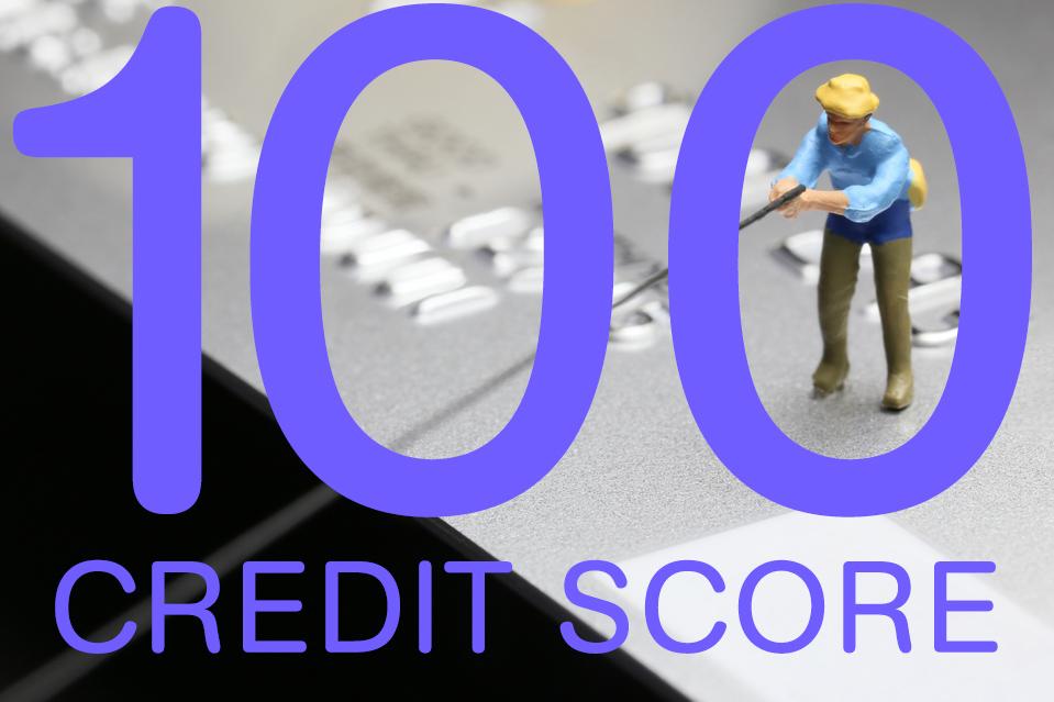 Credit score 100 points