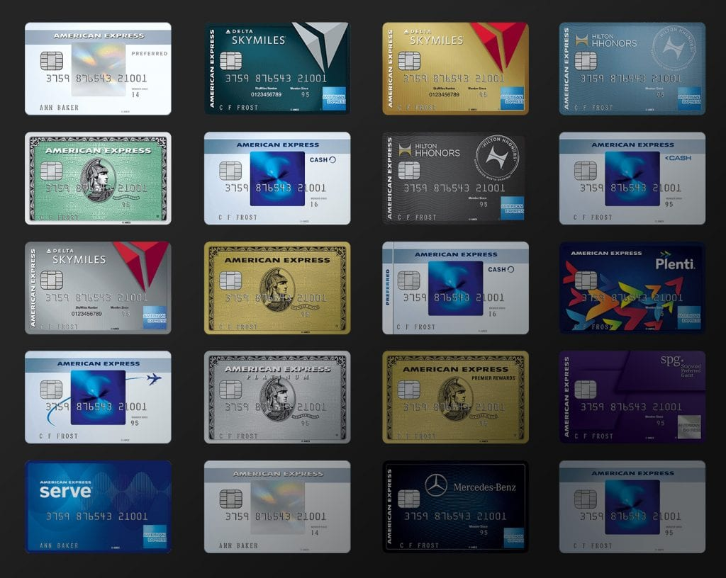 American Express Personal credit cards