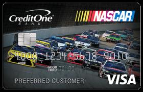 credit one nascar rewards card