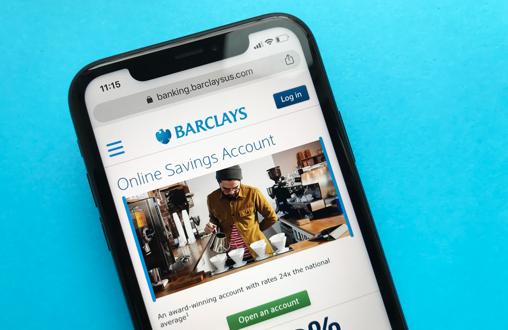 Barclays Bank Online Savings Account Website