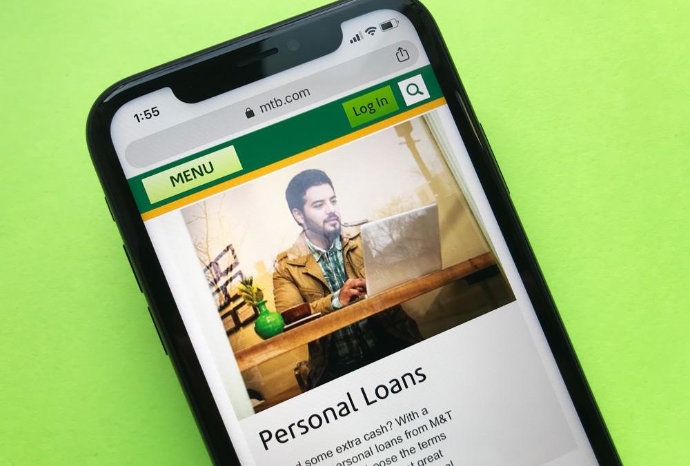 M&T Bank Personal Loans Website