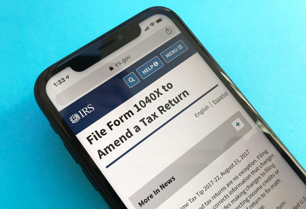 Amend tax return website