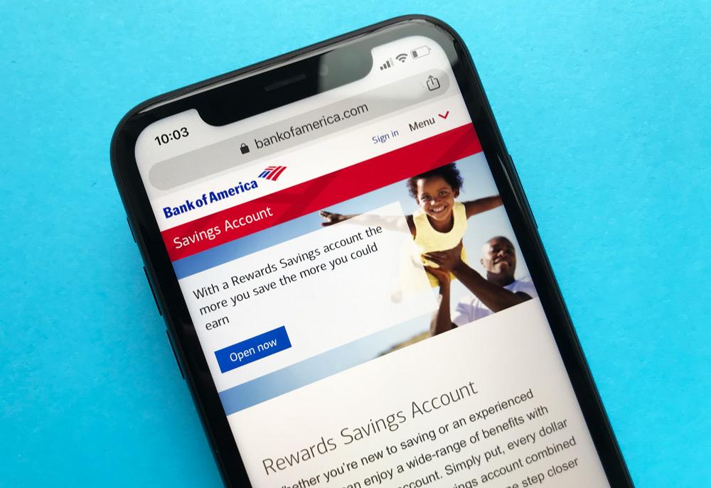 Bank of America Savings Account Website
