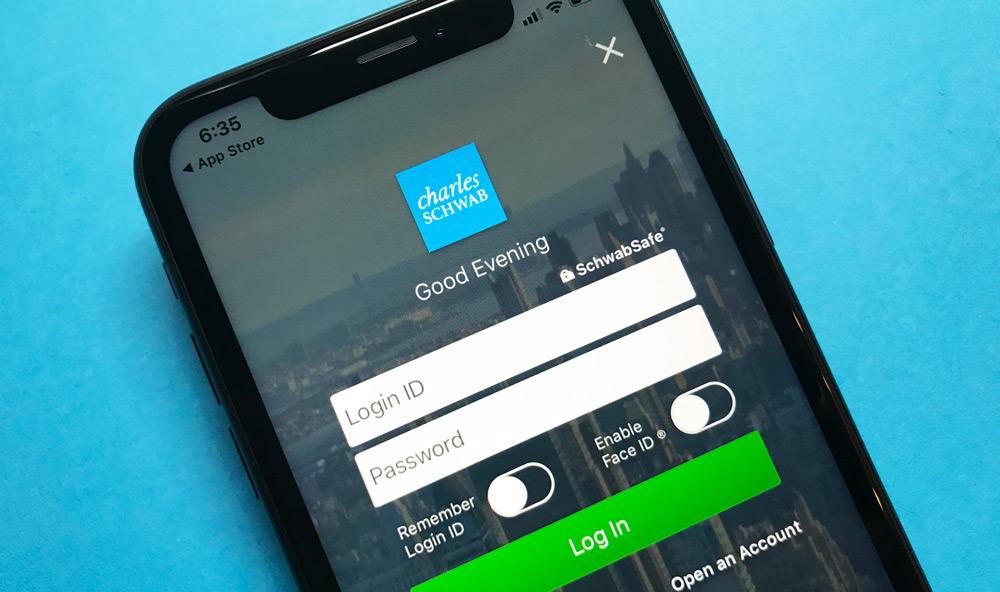 Charles Schwab Bank iPhone App