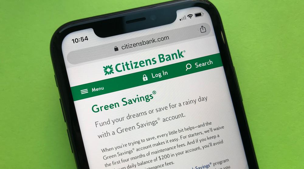 Citizens bank Green Saving Account