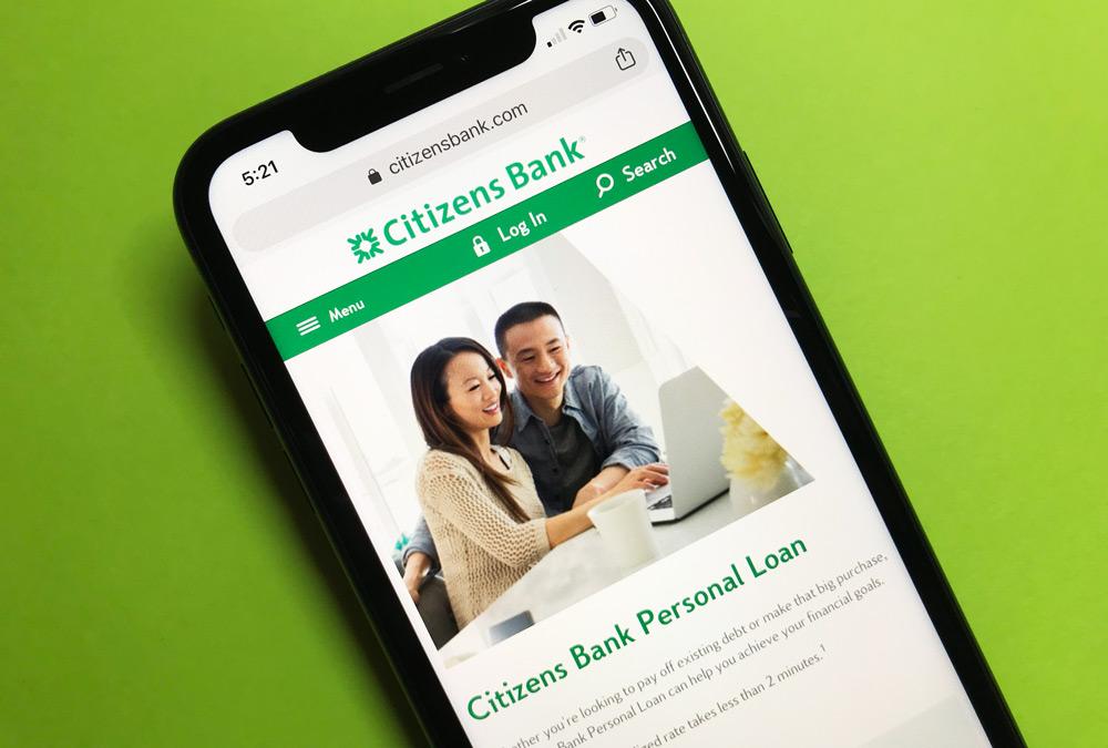 Citizens Bank Personal Loans Website