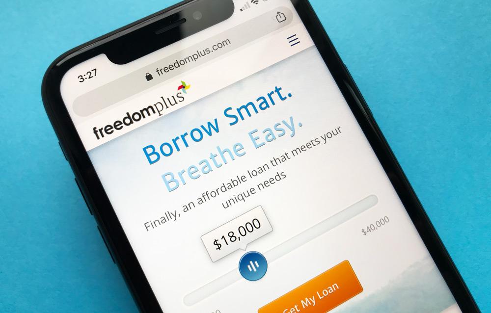 FreedomPlus Personal Loans Website