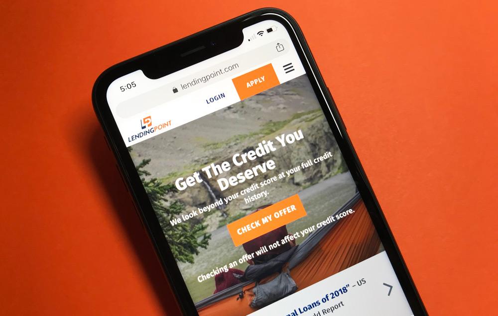 LendingPoint Personal Loans Website