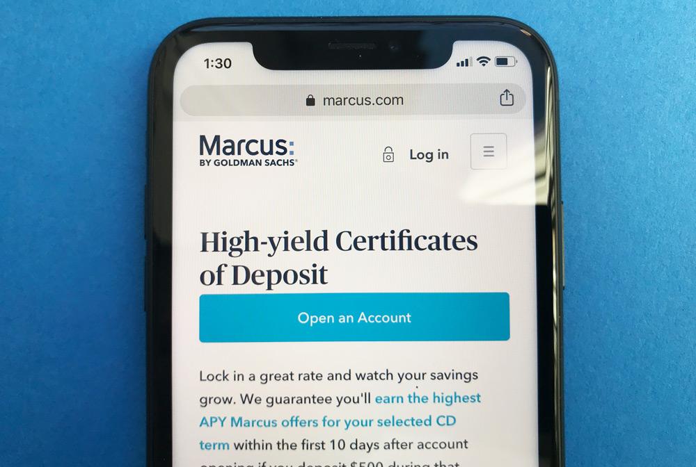 Marcus by Goldman Sachs Website