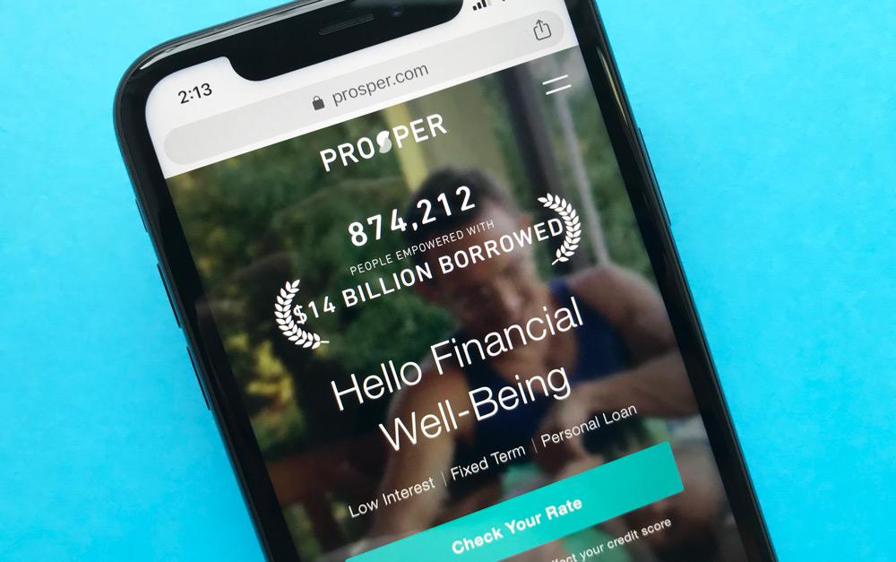 Prosper Personal Loans Website