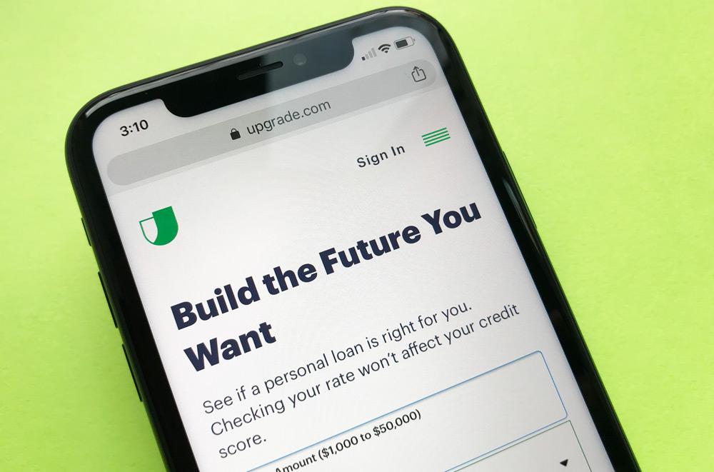 Upgrade Personal Loans Website