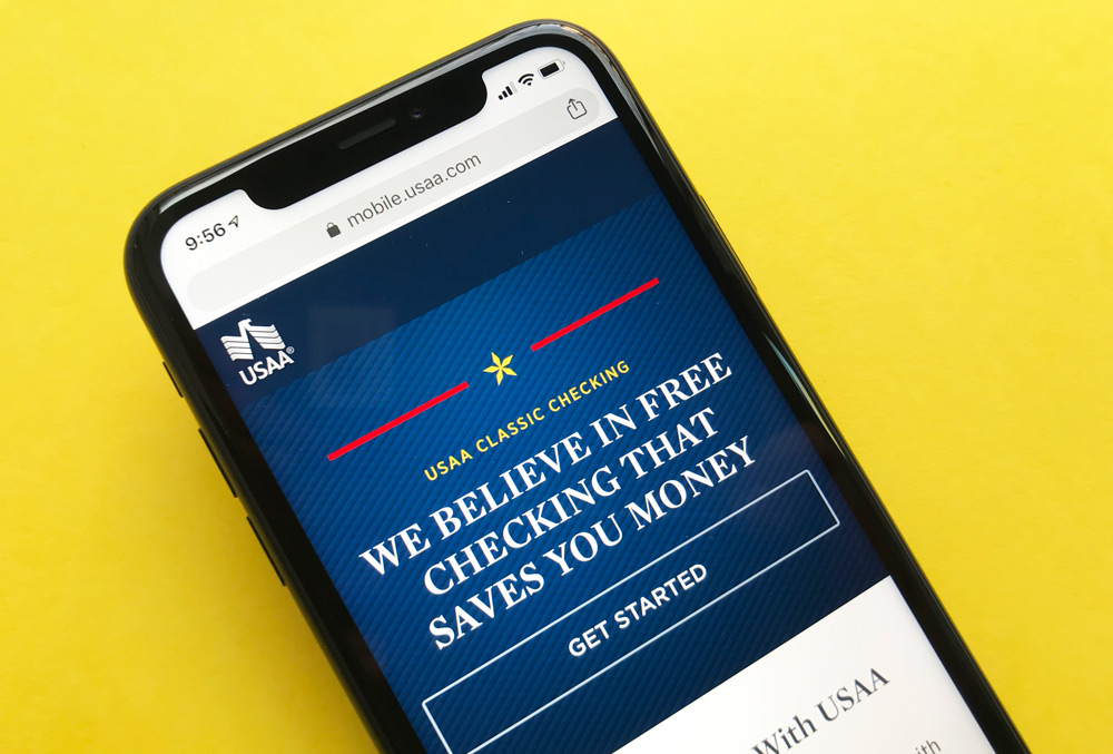 USAA Classic Checking Account Website