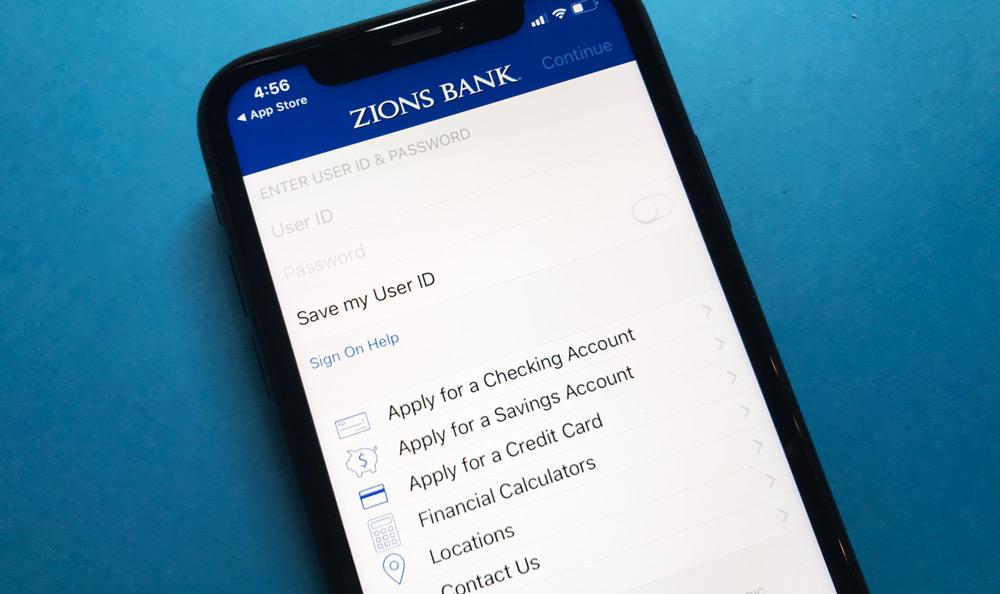 Zions Bank iPhone App