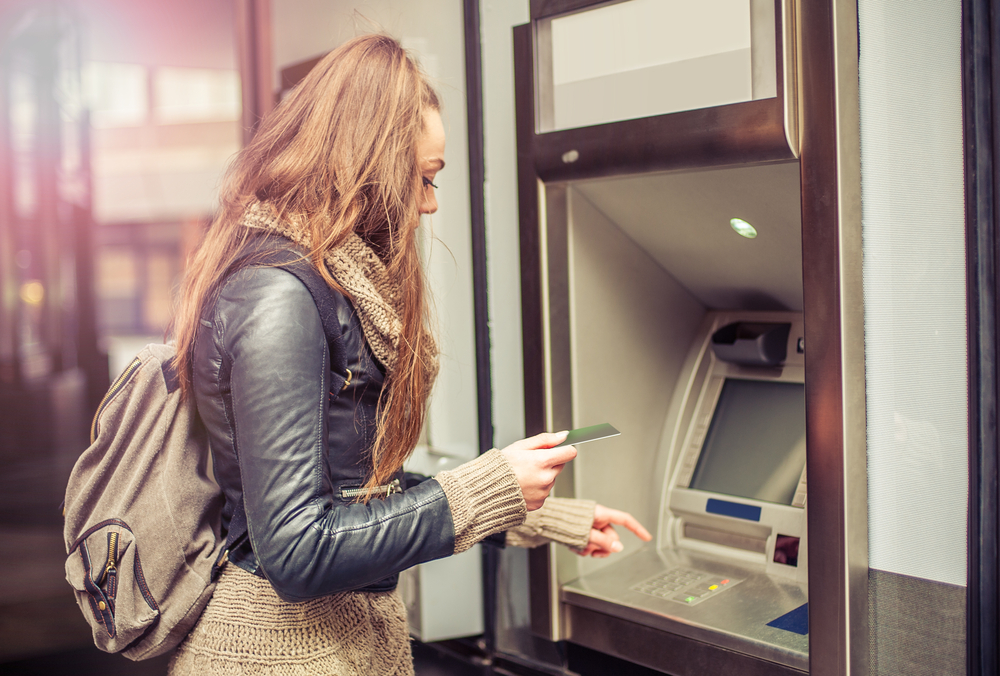 Woman at the ATM