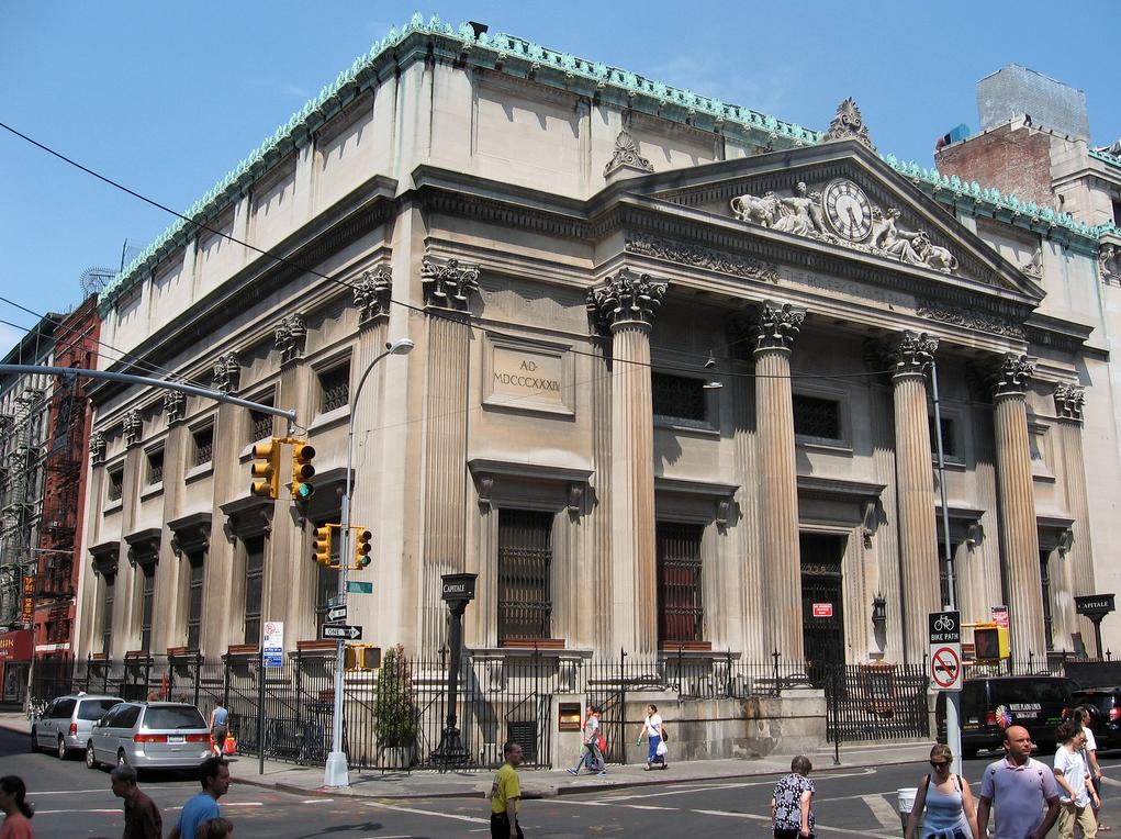 Bowery Savings Bank, now Capitale (130 Bowery)