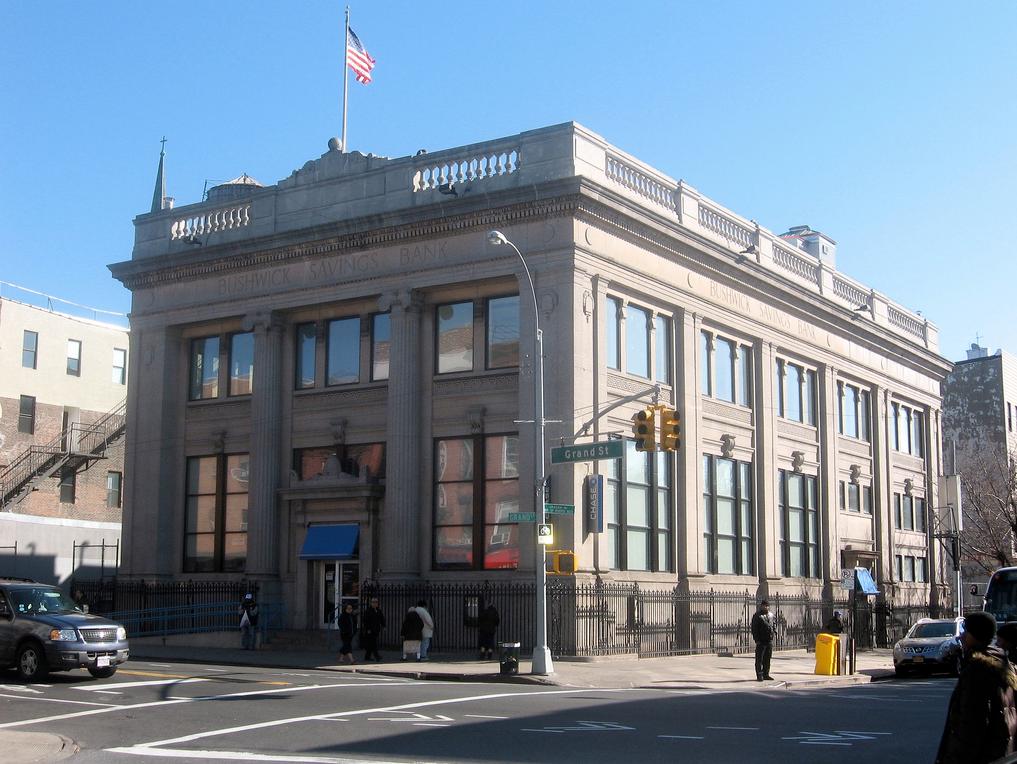 Bushwick Savings Bank, now Chase (726 Grand St., Brooklyn)