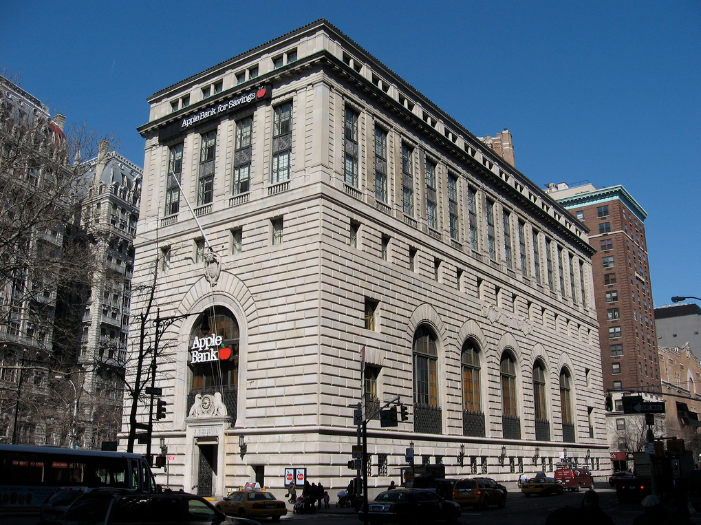 Central Savings Bank, now Apple Bank (2100 Broadway)