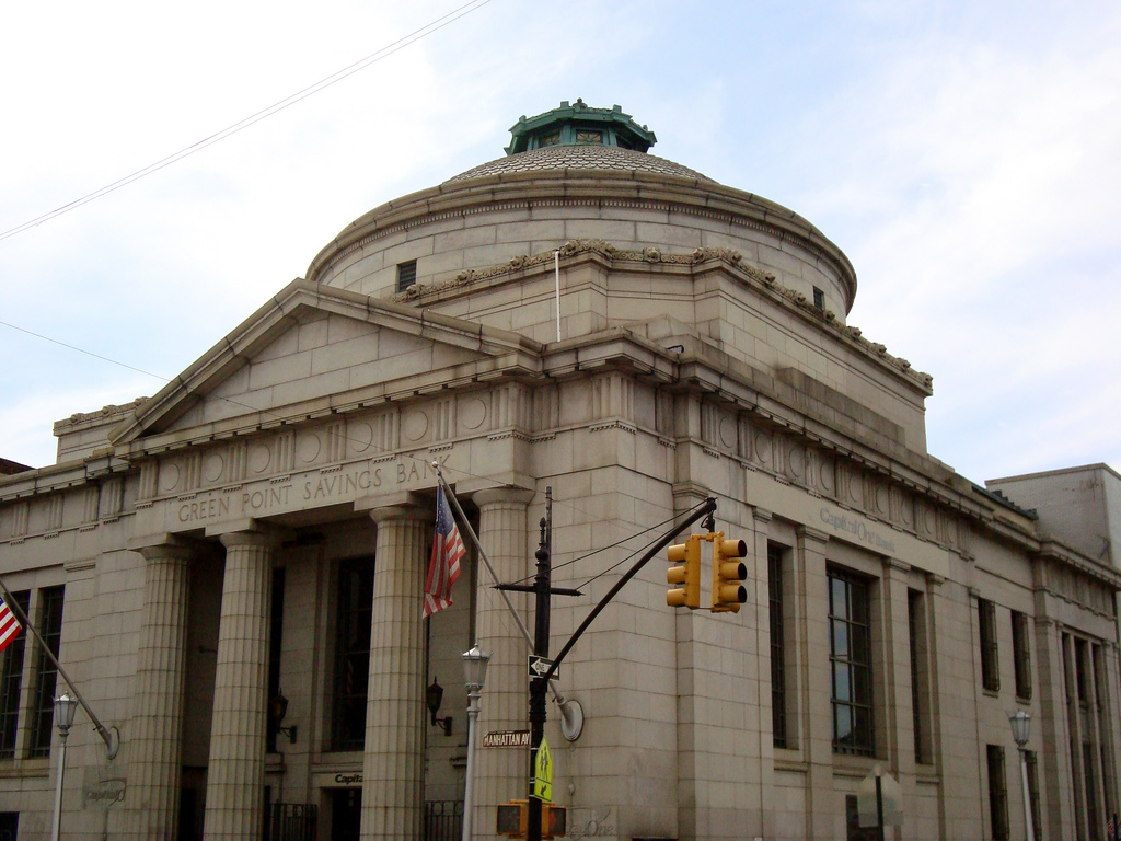 Greenpoint Savings Bank, now Capitol One (807 Manhattan Ave., Brooklyn)